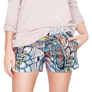 J. Crew Moonglow paisley shorts